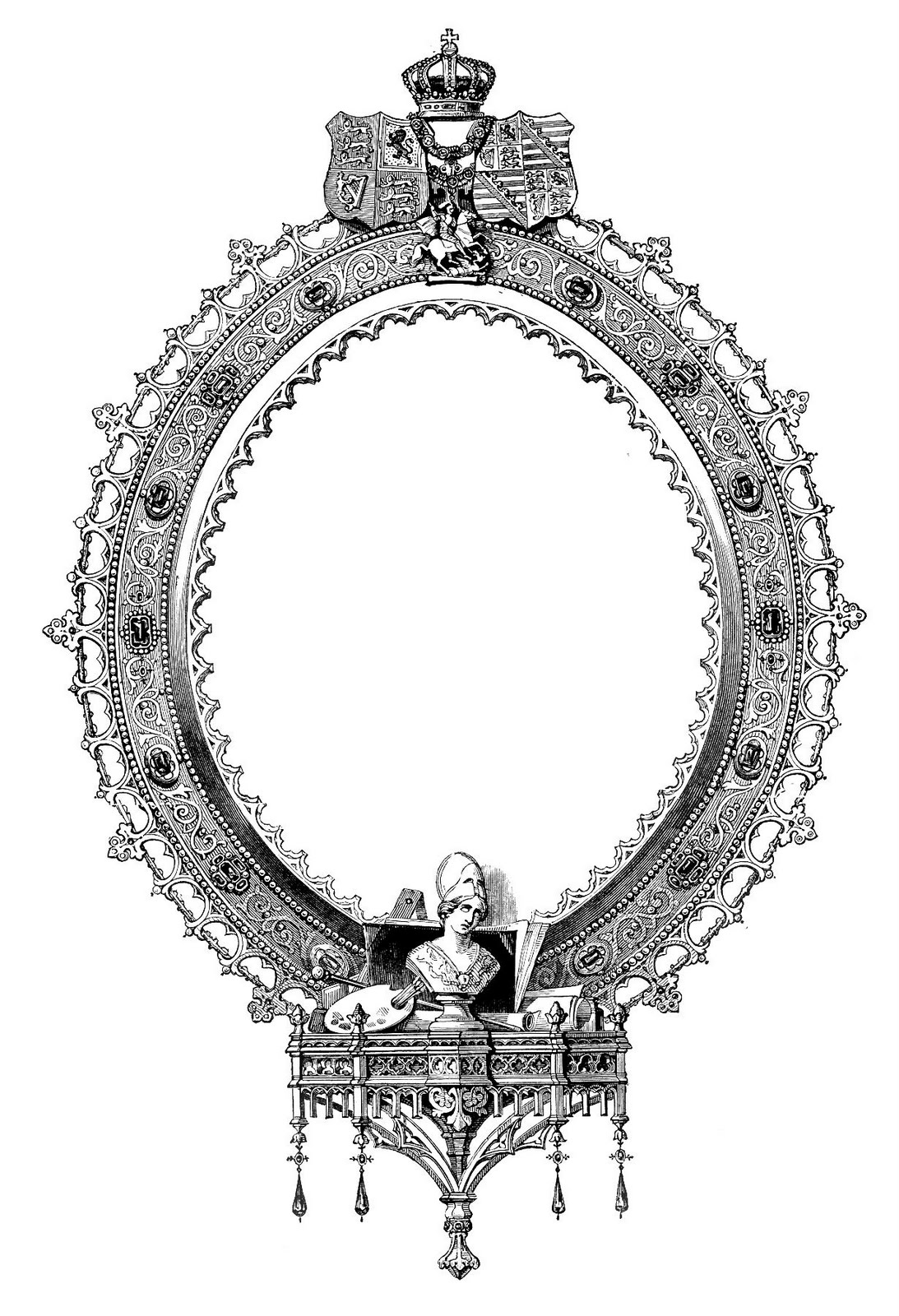 Victorian engraving clipart.