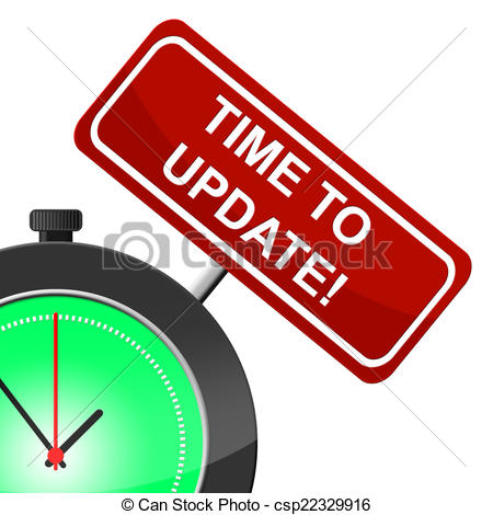Clipart of Time To Update Means Modernize Improved And Reform.