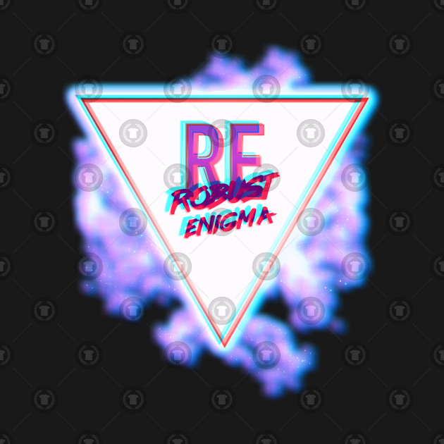 Red/Blue 3D Vaporwave Logo.