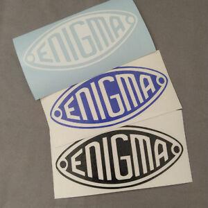 Details about 1 Enigma machine logo White Vinyl Decal Sticker Oracal/Avalon.