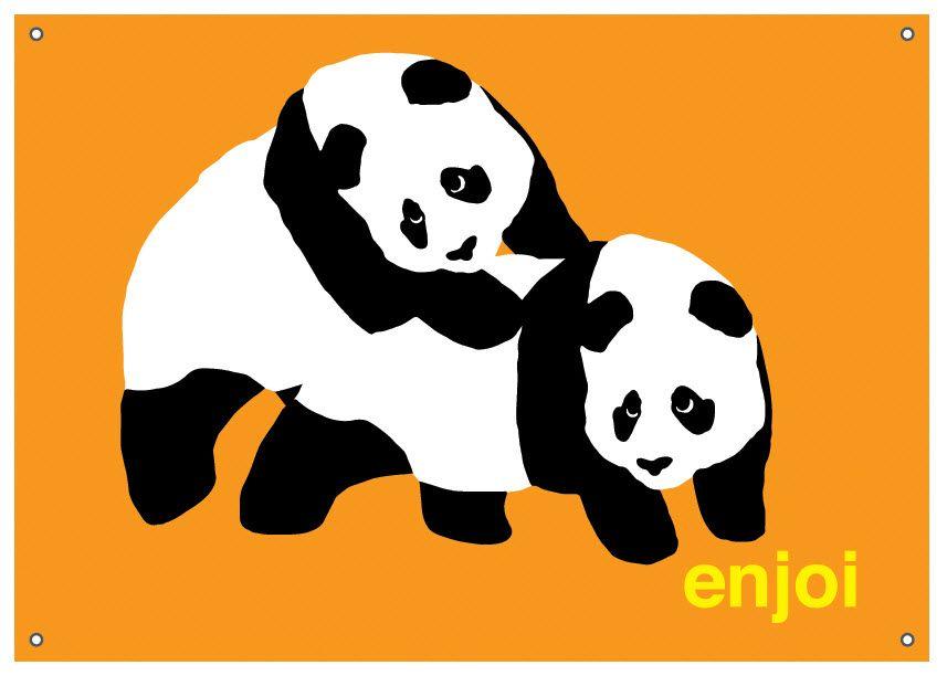Panda Skateboard Logo.