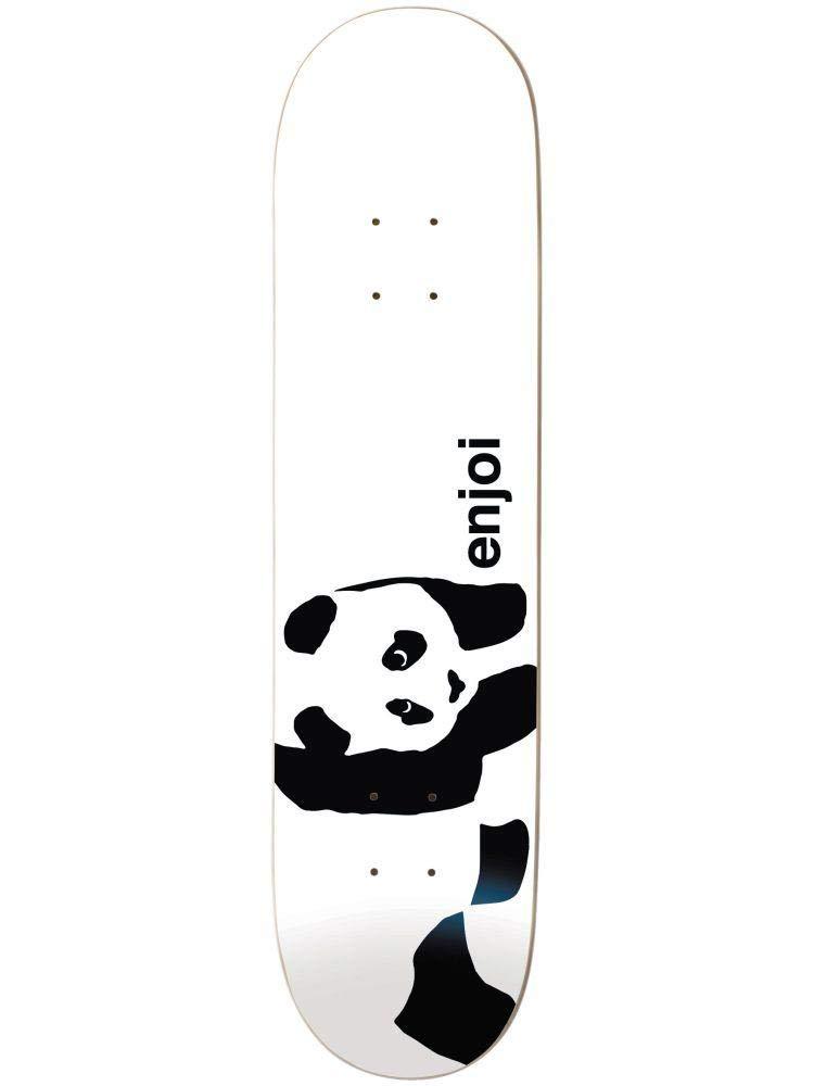 Enjoi Whitey Panda Logo Wide R7 Skateboard Deck.