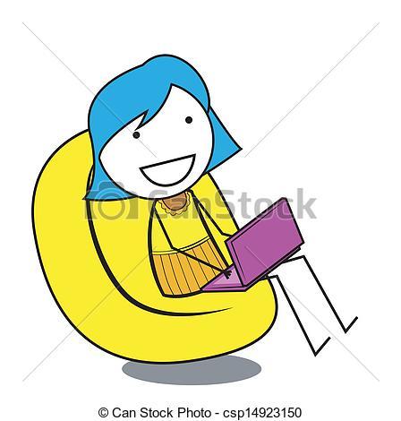 Clipart Vector of enjoy girl csp14923150.