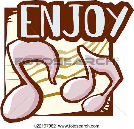 Clip Art of Enjoy u17388259.