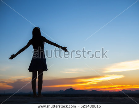 Freedom Woman Stock Images, Royalty.