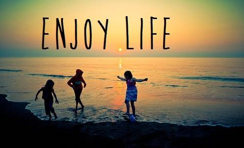 Enjoying Life Quotes Clipart.