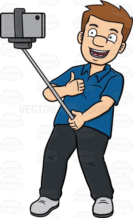A Guy Enjoys Taking His Selfie.