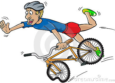 Cartoon Bicycle Wreck Clipart.
