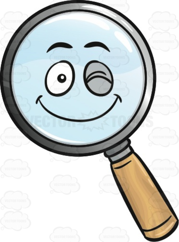 Winking Magnifying Glass Emoji.