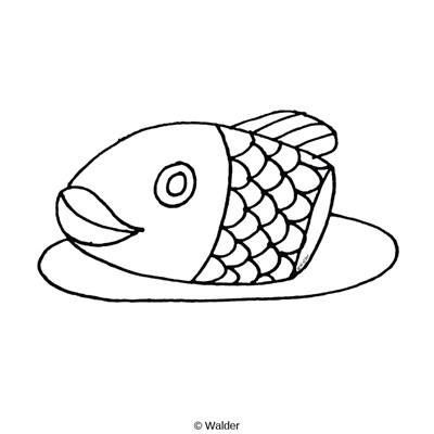 Head of fish clipart.