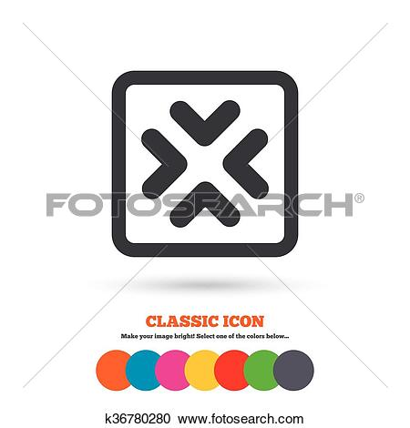Clipart of Enlarge or resize icon. Full Screen extend. k36780280.
