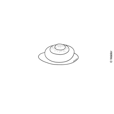 Challah clipart black and white.