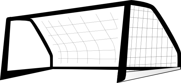 Goal Post Enlarged Clip Art.