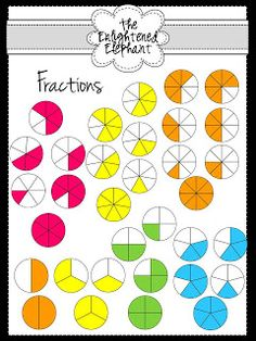 Fraction Strips and Tiles Clip Art product from The.