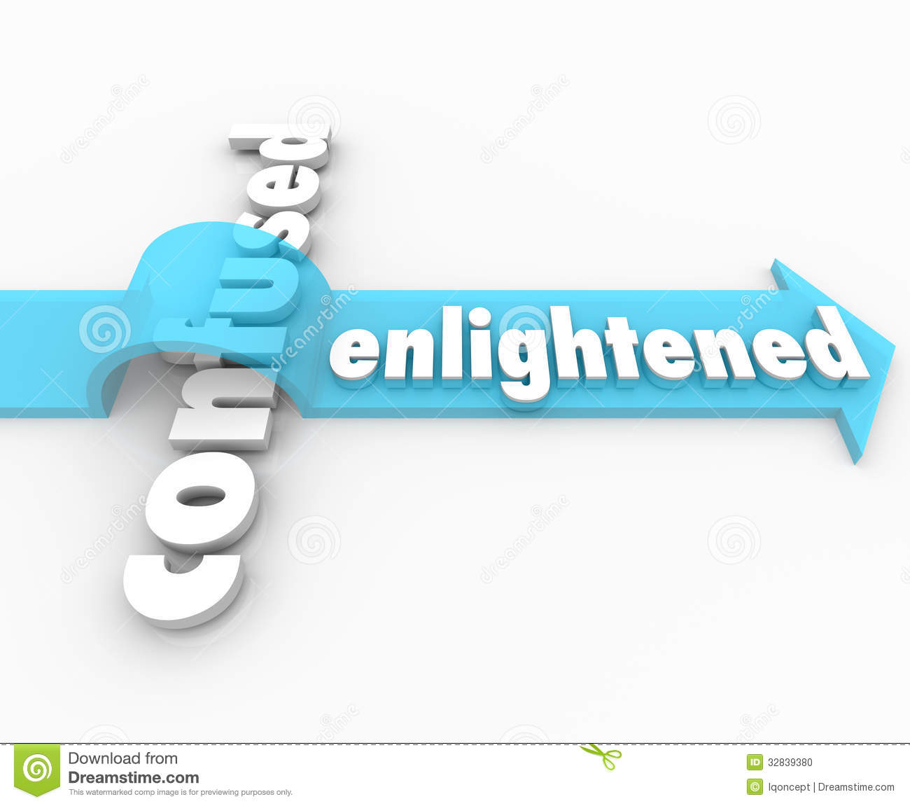 Enlightened Arrow Vs Confusion Enlightenment In Life Stock Photo.