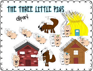 The Enlightened Elephant: The Three Little Pigs Clip Art and a Freebie.