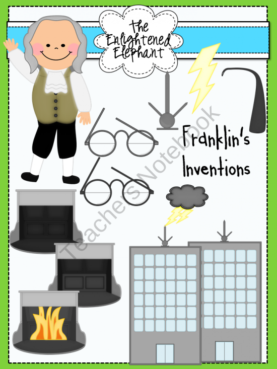 Inventions of Benjamin Franklin Clip Art product from The.