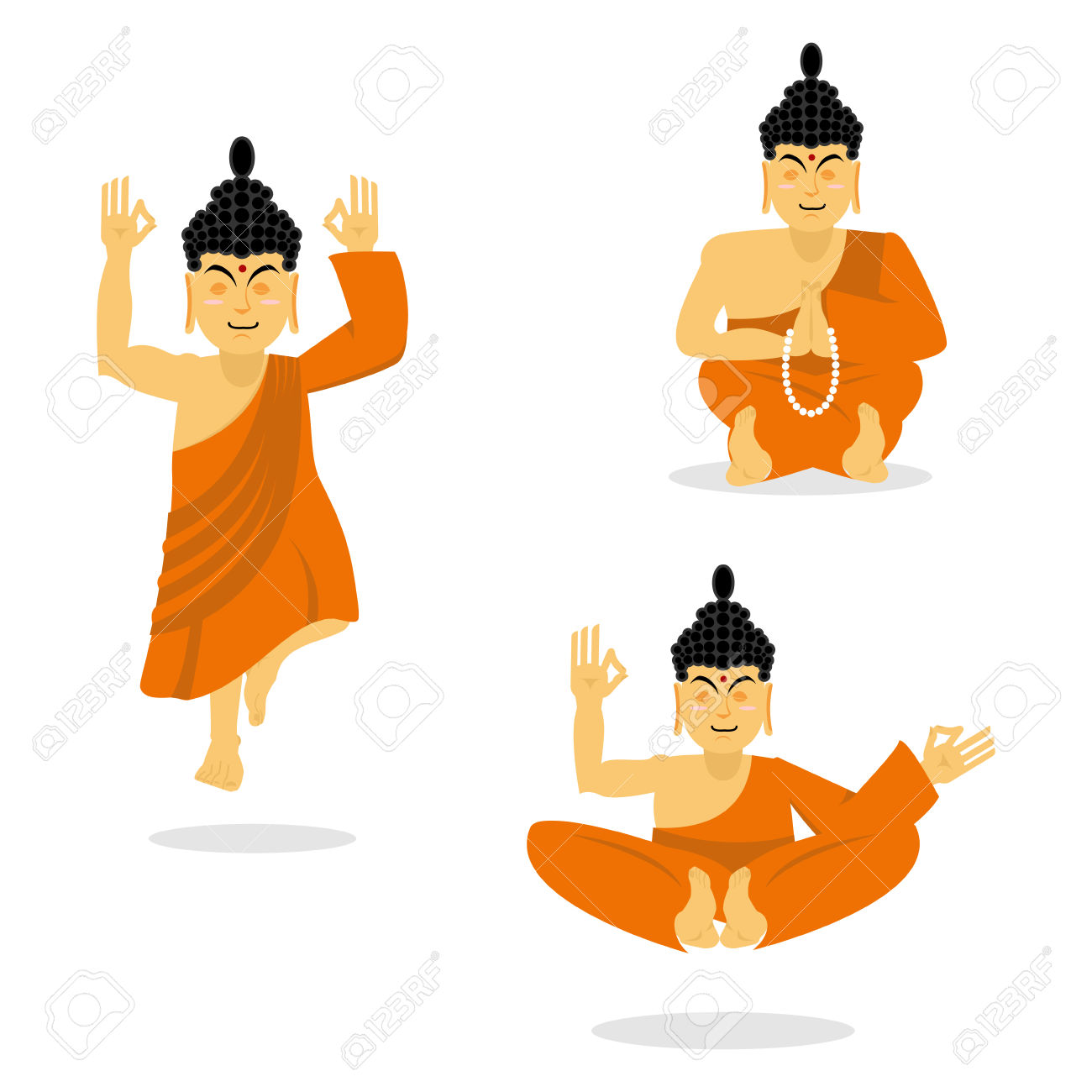 Buddhism and Enlightenment Clip Art.