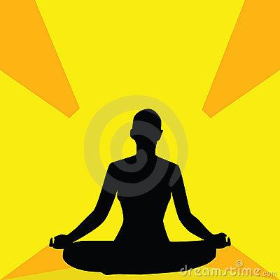 Yoga Meditation Pose / Spiritual Enlightenment / Illustration.