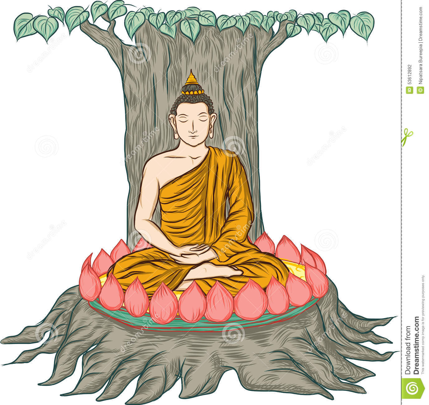 Tree of enlightenment clipart.