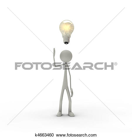 Stock Illustrations of Figure with enlightenment k4663460.