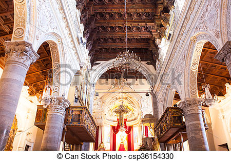 Stock Photos of Interior of the Enna cathedral.
