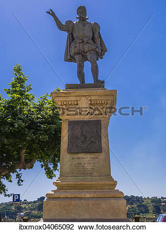 Stock Photo of Monument of Barona Marco Trigona in Piazza Duomo.