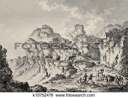 Stock Illustration of Enna surroundings bis k10752476.