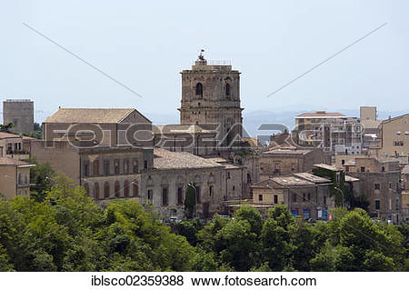 "Pictures of ""Cathedral, historic town centre, Enna, Sicily, Italy."