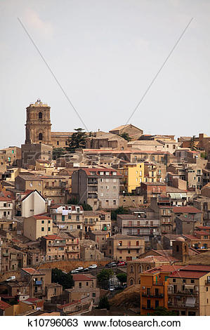 Stock Photo of Enna, Sicily k10796063.