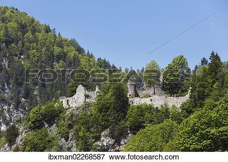 """Picture of """"Burgruine Wolkenstein castle ruins, Woerschach."""
