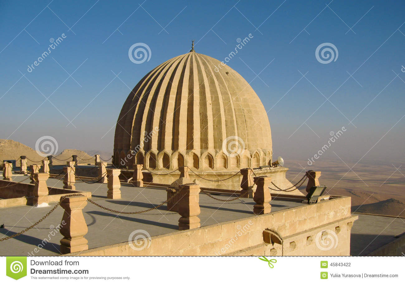 Huge Dome On The Turkish Roof In Mardin, Turkey Stock Photo.