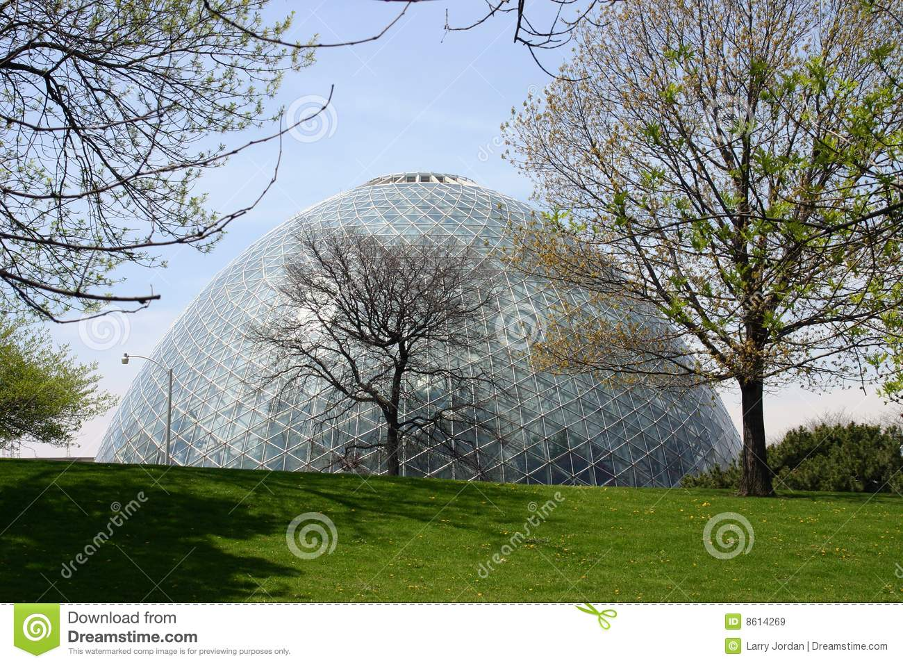 Giant Greenhouse Dome Royalty Free Stock Images.