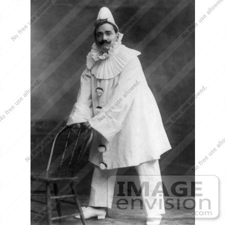 Stock Picture of Enrico Caruso as a Clown in Pagliacci.