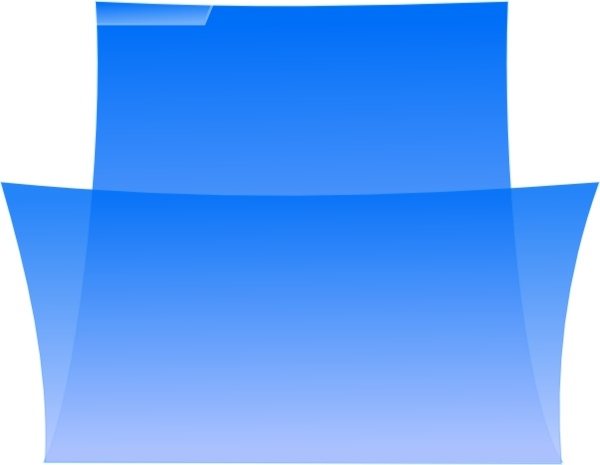 Enrico Folder Oxygenlike Blue Image clip art Free vector in Open.