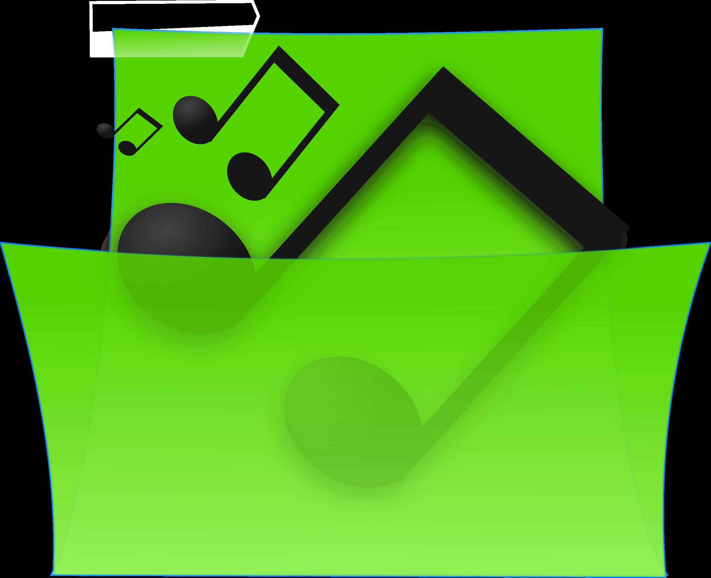 Music Folder Clipart.