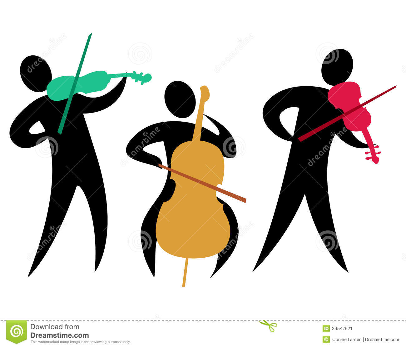 String Orchestra Clipart.