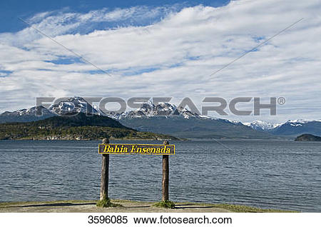 Stock Image of Bahia Ensenada in Tierra del Fuego National Park.