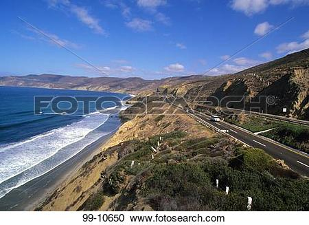 Stock Photography of Toll road passing through mountains, Cabo San.