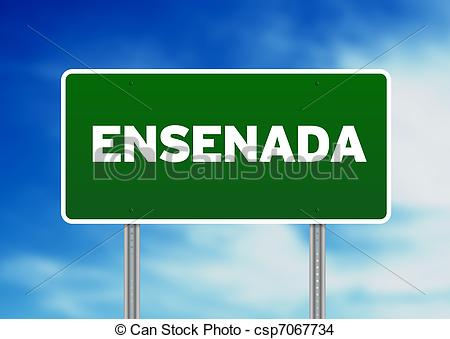 Stock Photo of Green Road Sign.