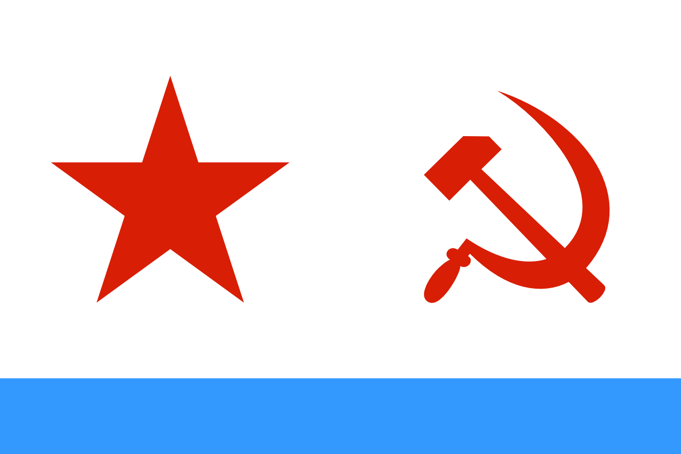 Naval Ensign Of The Soviet.