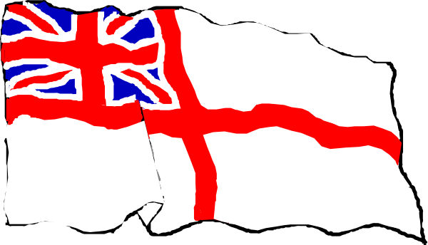 Rough White Ensign Clip Art at Clker.com.