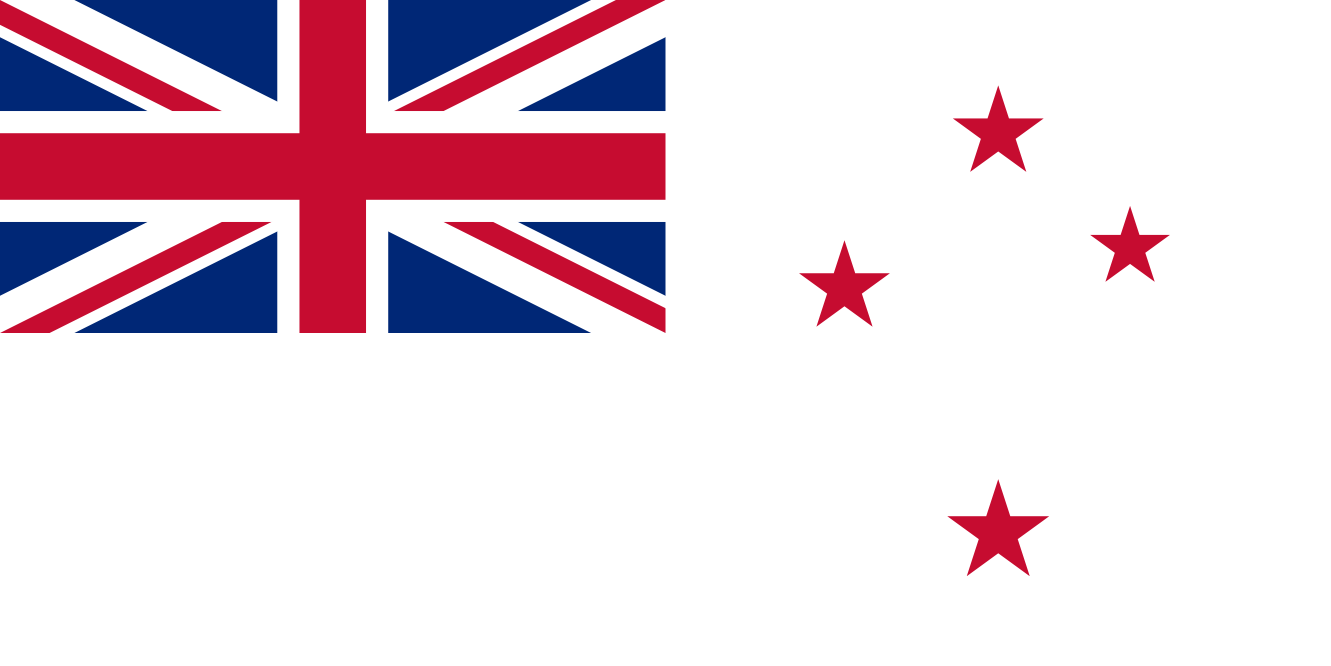 Naval Ensign Of New Zealand.