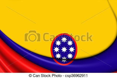 Clipart of Civil ensign of United States of Colombia.