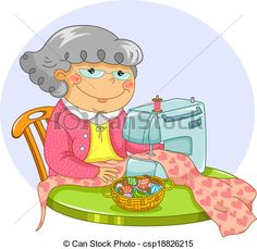 old ladies with pets: Illustration of a Female Senior Citizen.
