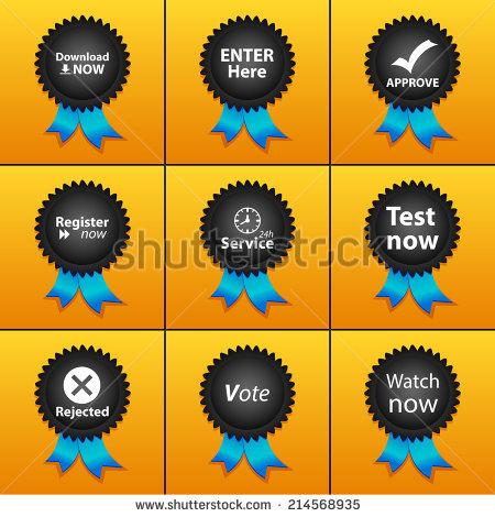 Vector Set Icons Print App Web Stock Vector 214568821.