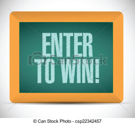 Clipart Vector of enter to win message illustration design over a.
