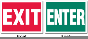 Exit Signs Clipart Free.