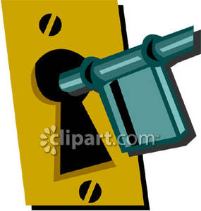 Old_Fashioned_Key_Entering_Lock_Royalty_Free_Clipart_Picture_081119.