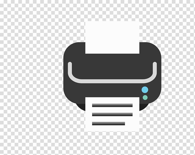 Black printer illustration, Hewlett Packard Enterprise Logo.